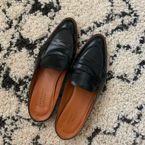 Everlane Leather Loafer Mules